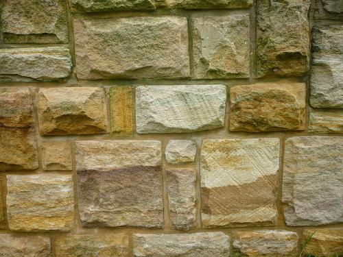 Ashlar Masonry Sandstone Wall