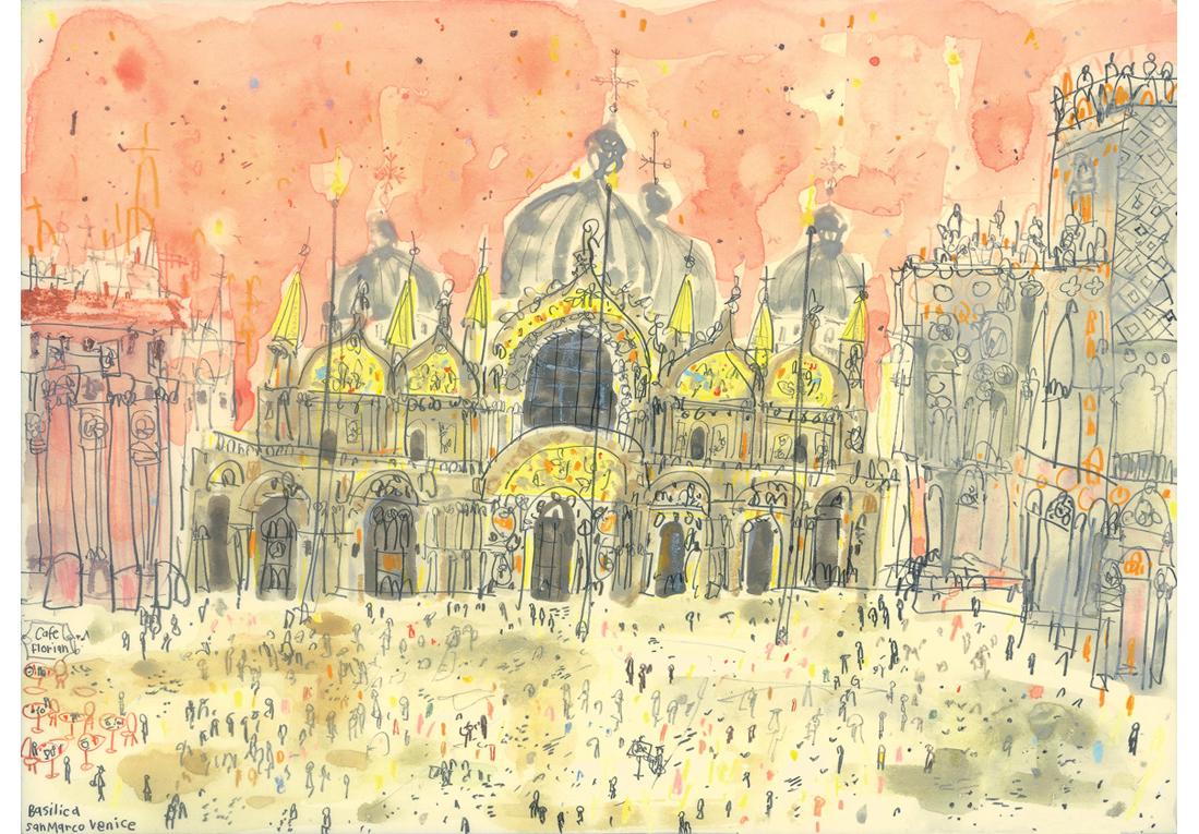 'Basilica San Marco Venice'  Giclee print 40.5 x 29.5 cm    Edition size 195    £145
