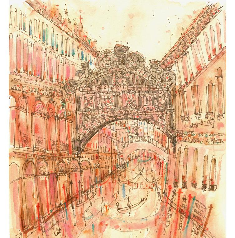 'Bridge of Sighs Venice'  Giclee print Image size 29.5 x 33 cm Edition size 195    £145
