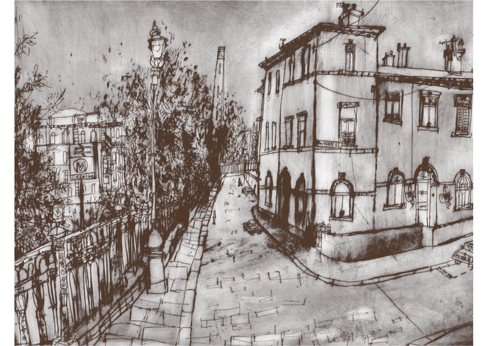 'Albert Terrace Saltaire' Giclee print 39 x 30 cm Edition size 195  £145