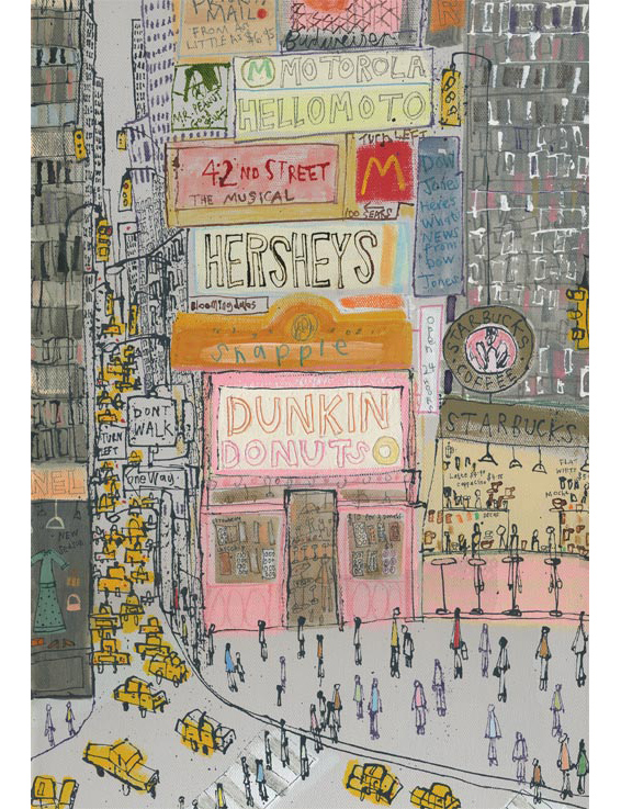 'Dunkin Donuts NYC'    (DETAIL FROM PREVIOUS IMAGE) Edition size 195