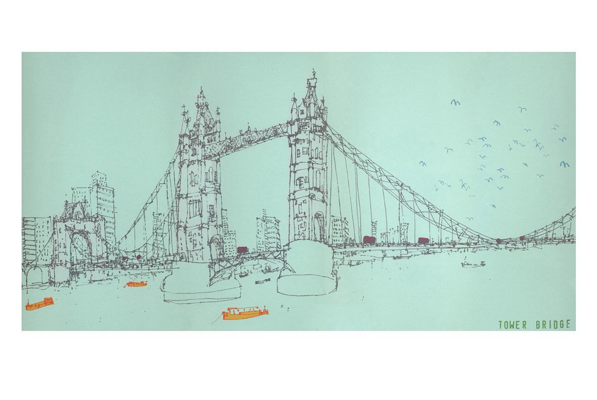 Tower Bridge London  Screenprint  30 x 60 cm Edition size 100