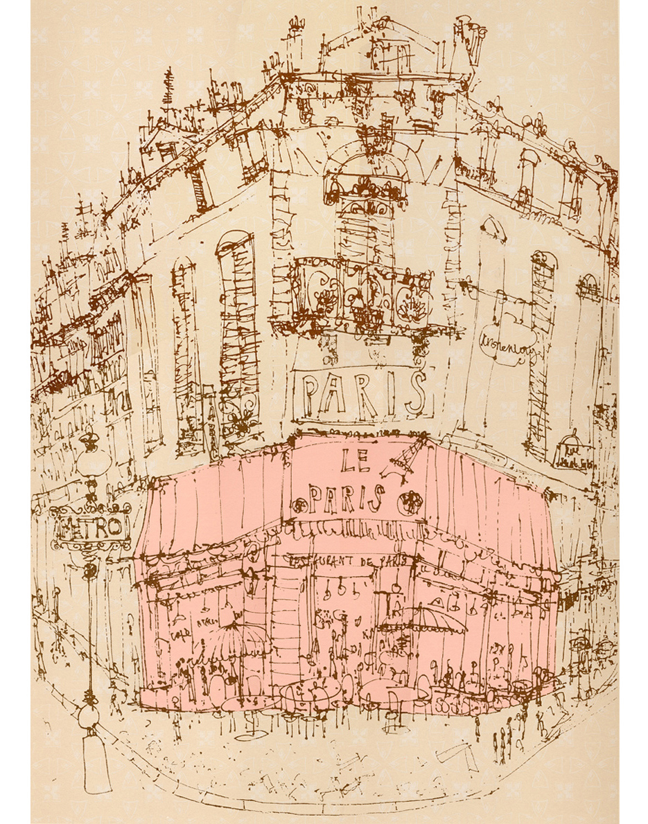 Parisian Cafe  Screenprint 40.5 x 56 cm Edition size 100  £195