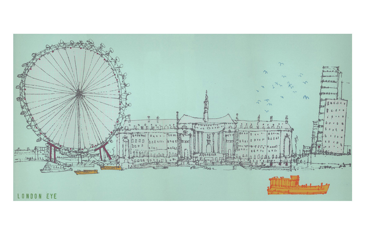 The London Eye  Screenprint 30 x 60 cm Edition size 100
