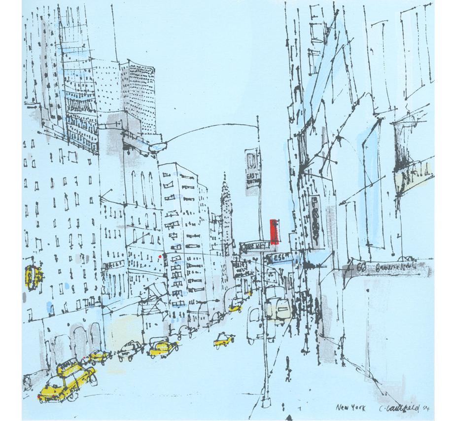 East 56th Street New York  Screenprint 30 x 30 cm Edition size 20   £195