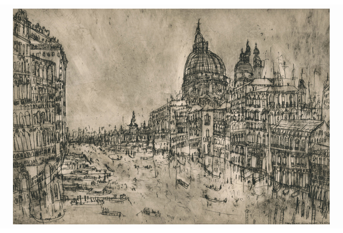 The Grand Canal, Venice  Drypoint     60.5 x 42 cm Edition size 20