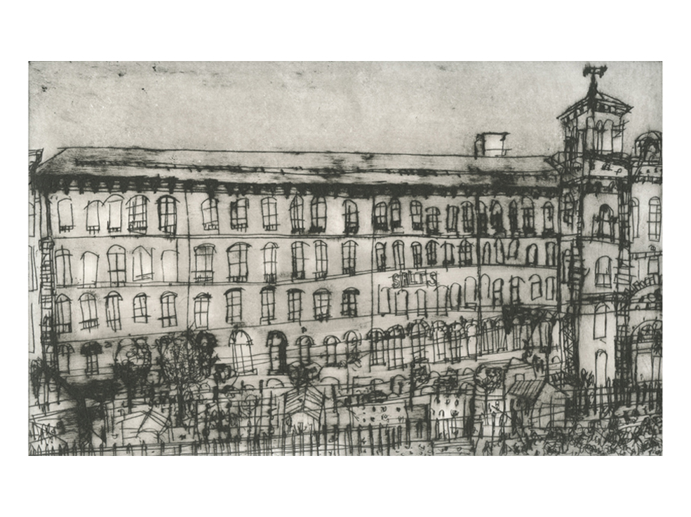 Salts Mill Saltaire  Drypoint   17 x 27 cm Edition size 20