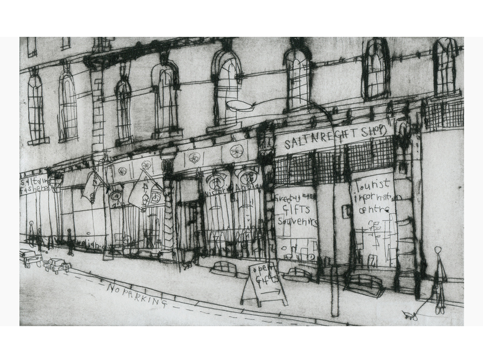 Victoria Antiques Saltaire  Drypoint    19 x 12 cm Edition size 20