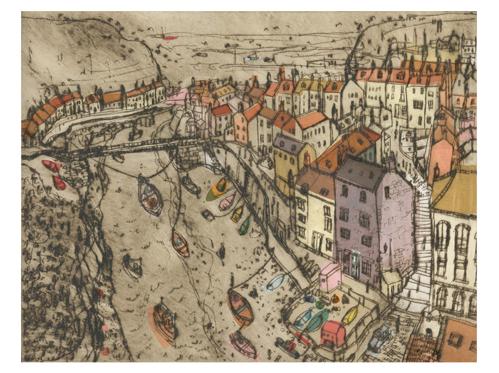 Staithes  Drypoint & Chine-Colle 41 x 31 cm     Edition size 15