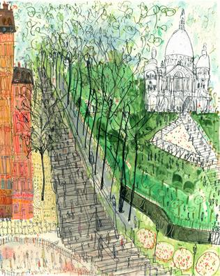 Steps to Sacre Coeur