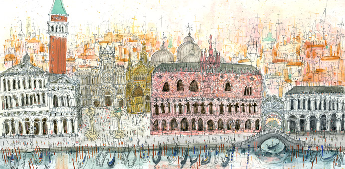 Arriving at Piazza San Marco Venice