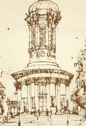 Saltaire Church SEPIA