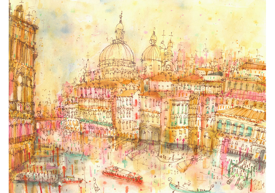 'Grand Canal Sunset'  Giclee print 39.5 x 29.5 cm Edition size 195     £145