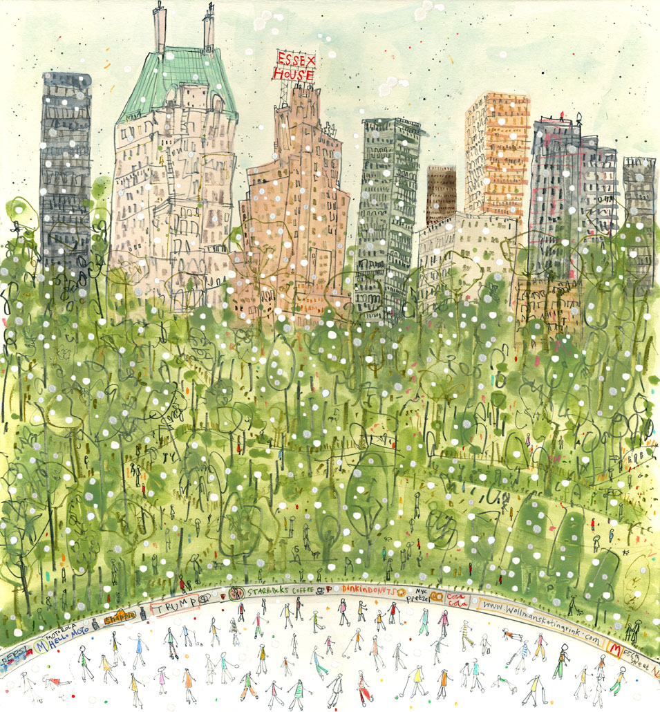 SNOWING IN CENTRAL PARK CLARE CAULFIELD.jpg