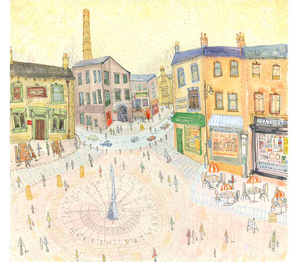 'St. George's Square Hebden Bridge'  Giclee print  Image size  41 x 39 cm Edition size 150   £165