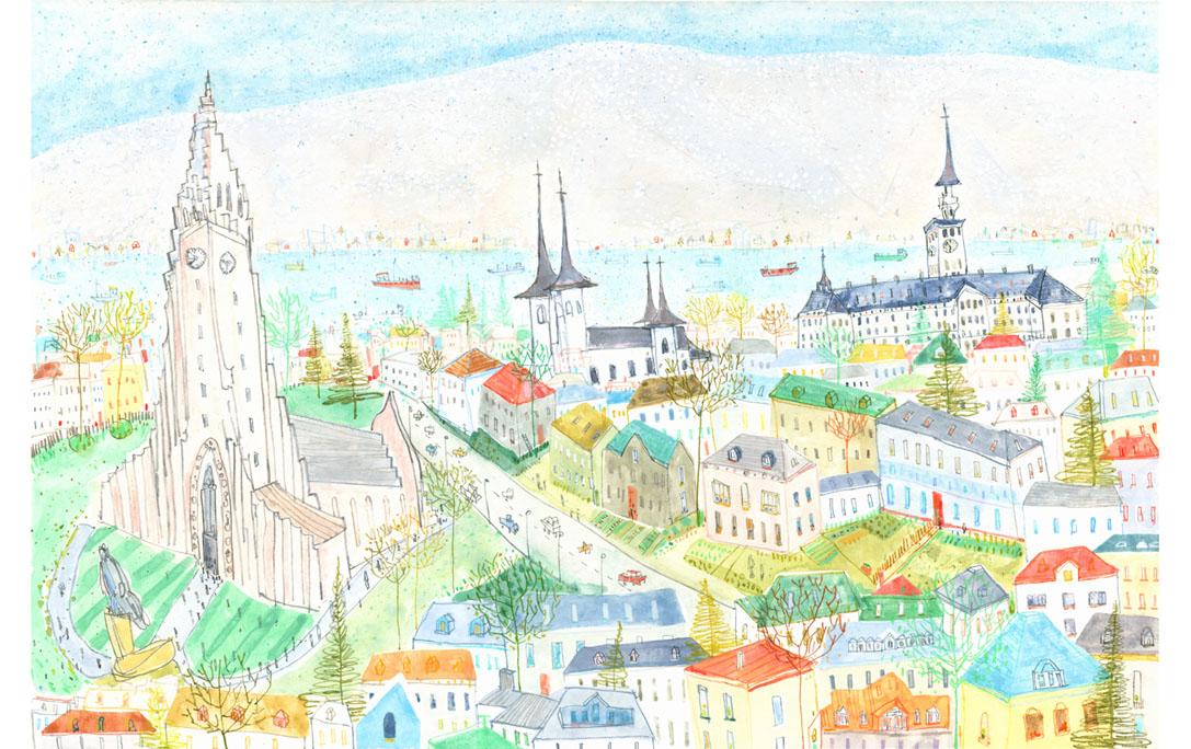 'Reykjavik Hallgrims Church'  Giclee print 43 x 28.5 cm Edition size 195  £145