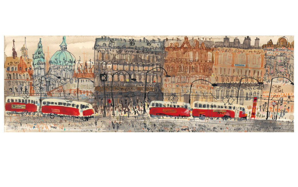 'Old Town Prague'  Giclee print 17 x 50 cm Edition size 195   £140