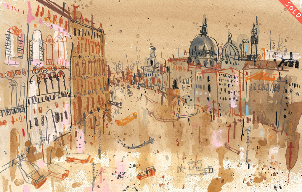 'Grand Canal Venice'         MIXED-MEDIA          Image size  38 x 25 cm         S O L D
