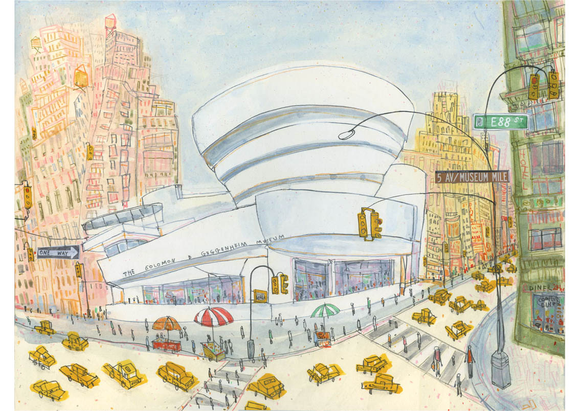 'The Guggenheim New York'  Giclee print 40.3 x 30 cm Edition size 195   £145