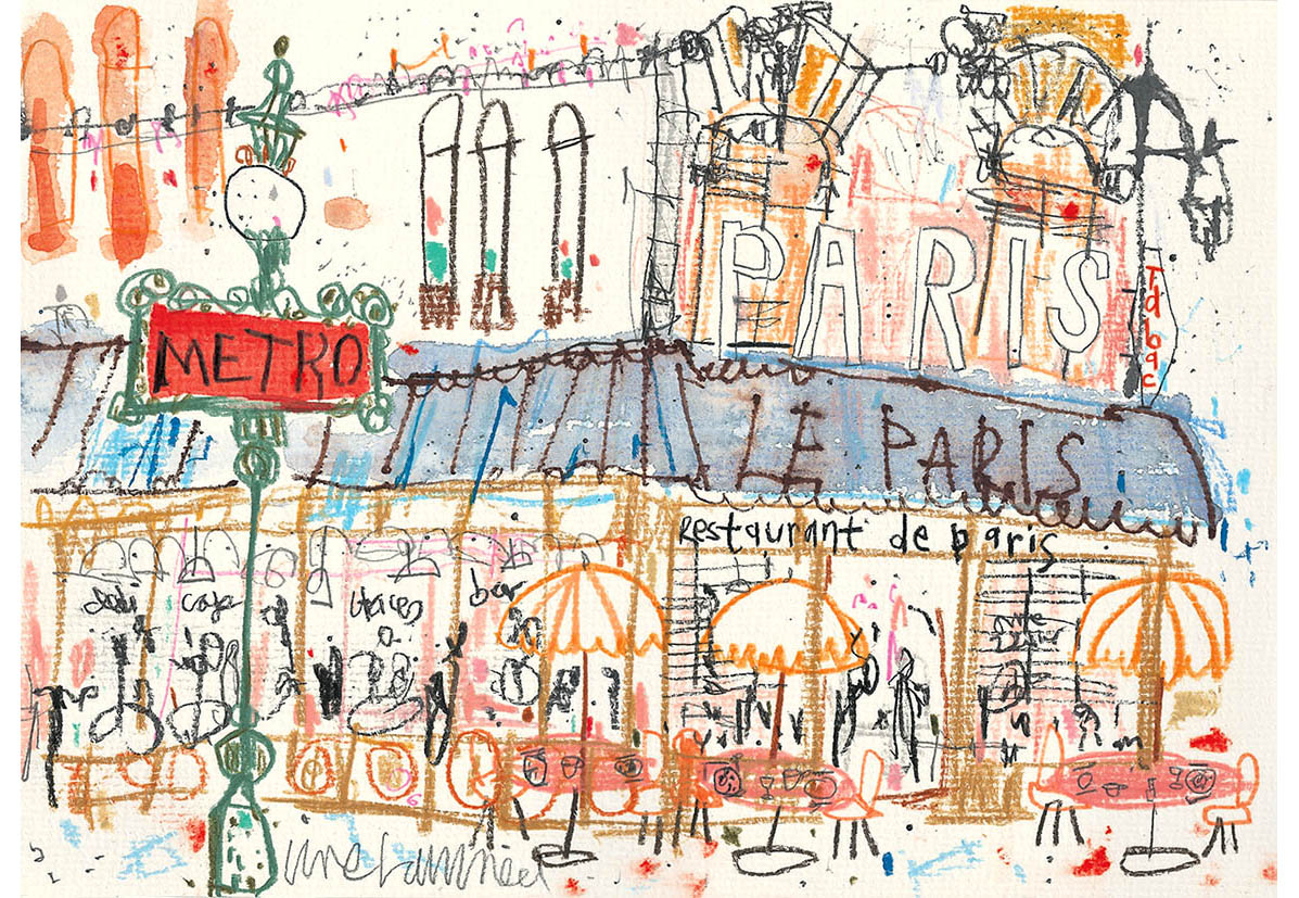 'Paris Sketchbook'  Limited Edition Giclee print Image size  42 x 30 cm Edition size 195     £145