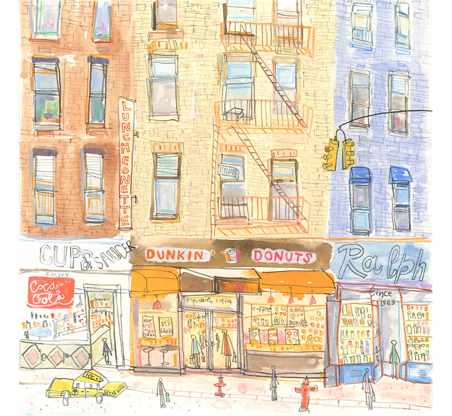 'Cup and Saucer Deli New York'  Giclee print 32 x 32 cm Edition size 195  £145