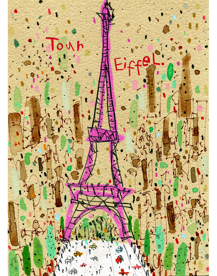 'Eiffel Tower Paris'  Giclee print 29.5 x 40.5 cm Edition size 195   £145