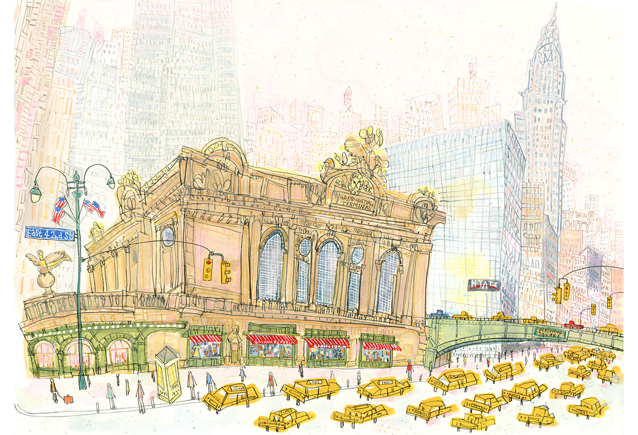'Grand Central E42nd Street New York'  Giclee print   41.5 x 30 cm Edition size 195    £145