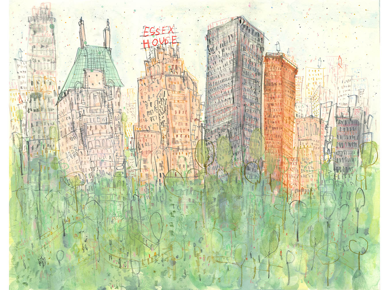 'Essex House New York'  Giclee print 41 x 32 cm Edition size 195     £145