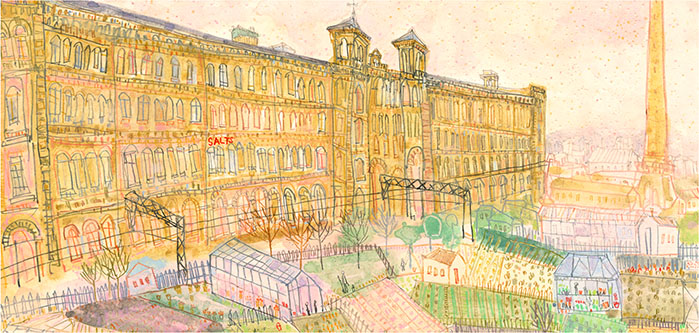 Salts Mill & Allotments, Saltaire