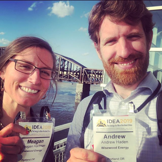 Meagan and Andrew are excited to join over 800 people from 18 different countries in Pittsburgh PA at the 2019 International District Energy Association conference, where #districtenergy, #combinedheatandpower, and #microgrids are the leading topics of discussion. Looking forward to Wednesday, when Andrew will share Wisewood's experience incorporating #biomassenergy into the #netzero designs for a university campus utility plant. @districtenergy #biomassdoneright @pittsburghcc