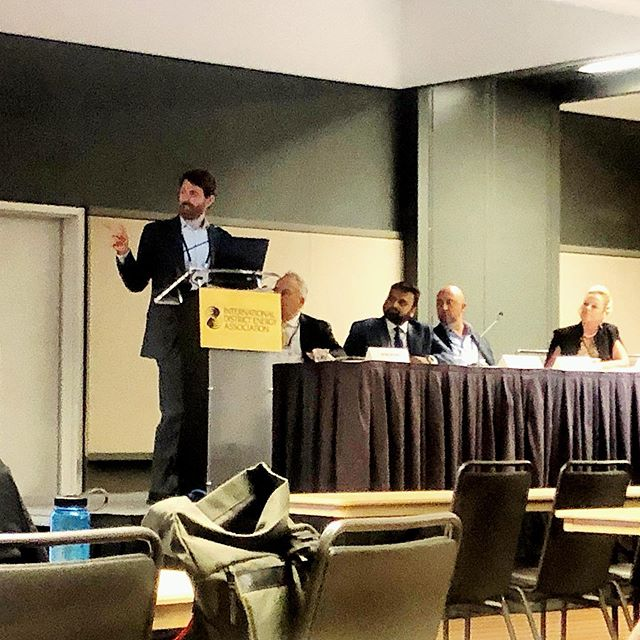 Last week at the @districtenergy conference in Pittsburgh Andrew spoke about the role #biomassenergy plays in fire-prone areas where communities are seeking out #renewableenergy while also mitigating the risk of high severity #wildfire. Lots of great questions and discussion about what makes a good wood energy project!