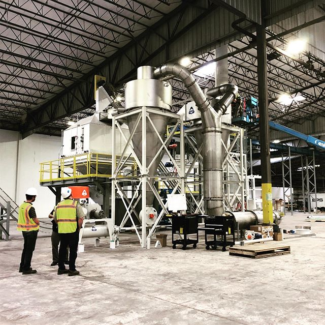 Wisewood staff inspect the ongoing construction of a combined wood and alfalfa pelletizing mill for a client in Eastern Oregon. An impressive amount of electrical engineering is required to ensure all systems run as they should! #woodpellets  #biomassenergy