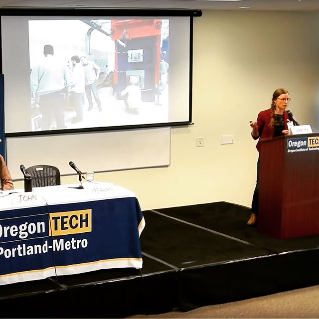 As a panelist at Oregon Tech's 2019 Summit on the Energy-Environment Future, Meagan talked about the unique position that #biomassenergy holds within the context of improving forest conditions and seeking more #energyresilience and #renewableenergy in the face of more severe disturbances. Using wood for energy is a balancing act, and in our opinion should be #biomassdoneright! @oregontech