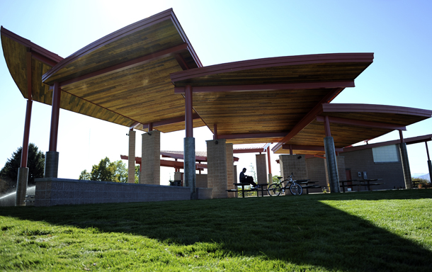 Marquez Rodriguez takes a moment from to reflect from the outdoor pavilion at the top of Ruby Hill Park in West Denver on Thursday, October 13, 2011. Lindsay Pierce, YourHub