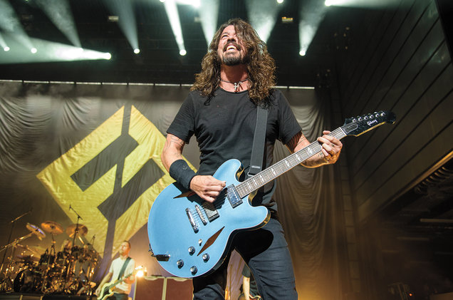 Kyle Gustafson/For The Washington Post/Getty Images  Grohl fronted the Foo Fighters during the opening-night show at The Anthem (inset) in Washington, D.C., last October.