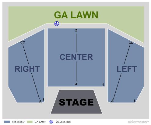 Levitt Pavilion Denver - Seating Map