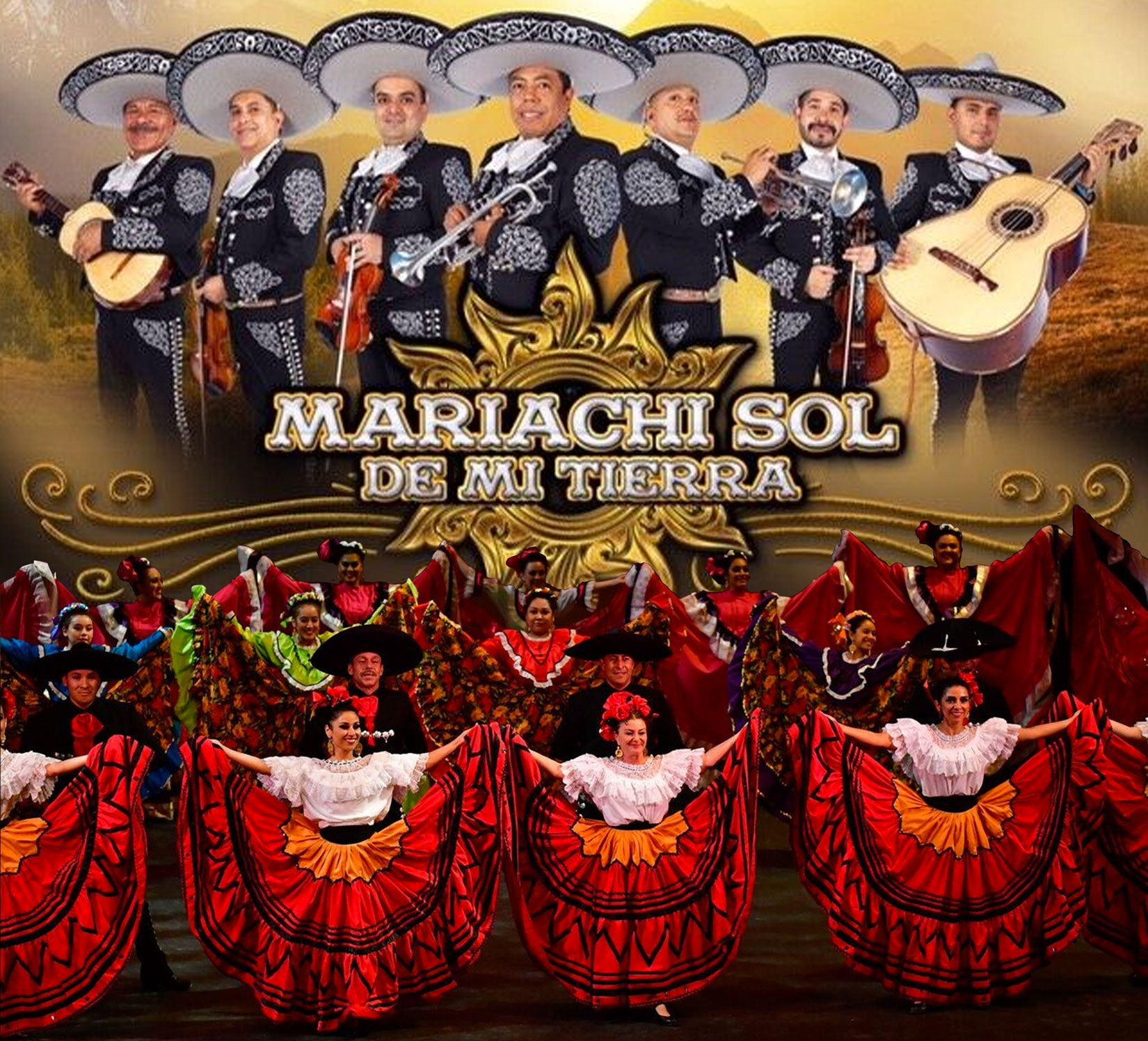 8-25---Mariachi-Sol-de-mi-Tierra-with-Fiesta-Colorado-Dance-Company---Levitt-Pavilion-Denver-Poster.jpg