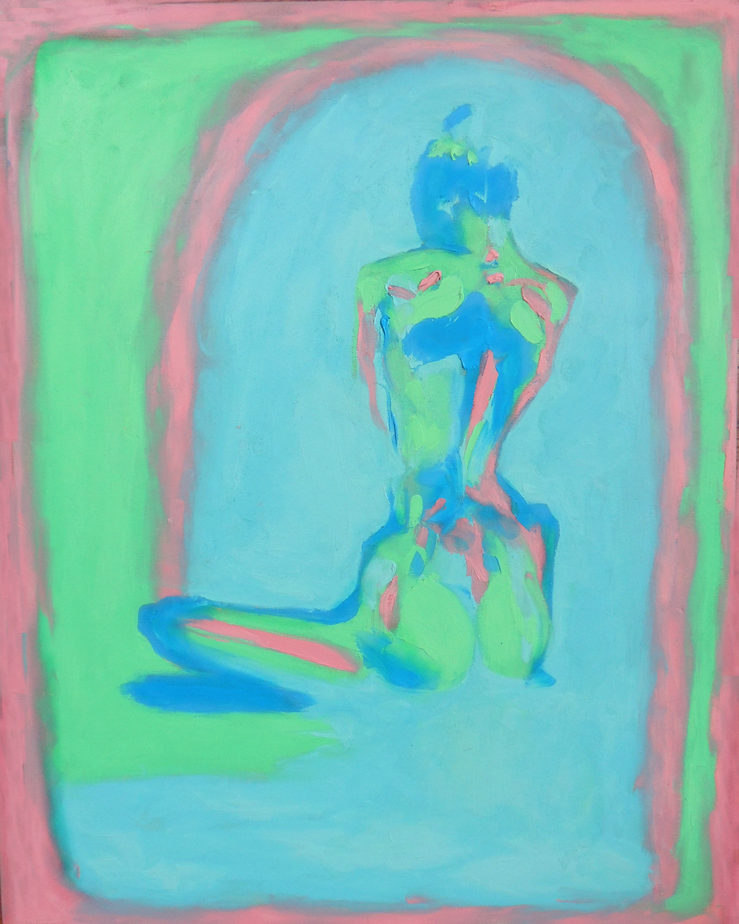 """back""  oil paint on wood  24'x20'   2014"
