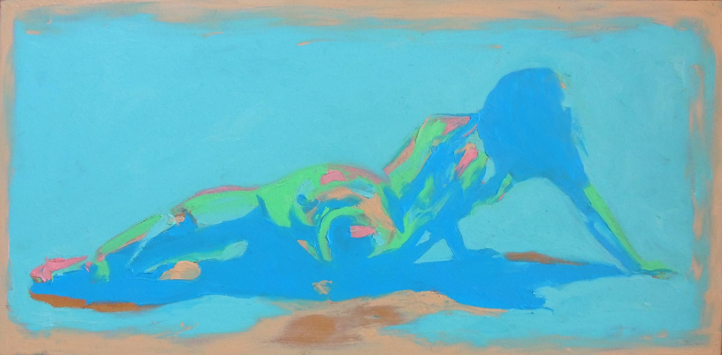 """side""  oil paint on wood  15'x28'  2014"