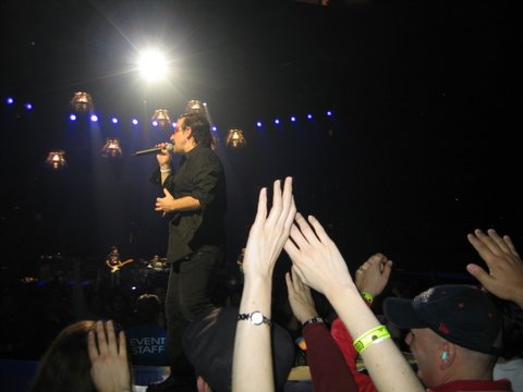 Yes, those are my hands in front!  U2, Boston, 2005!