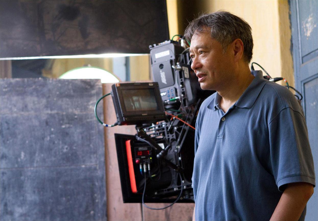 "Director Ang Lee on set for ""Life of Pi"""