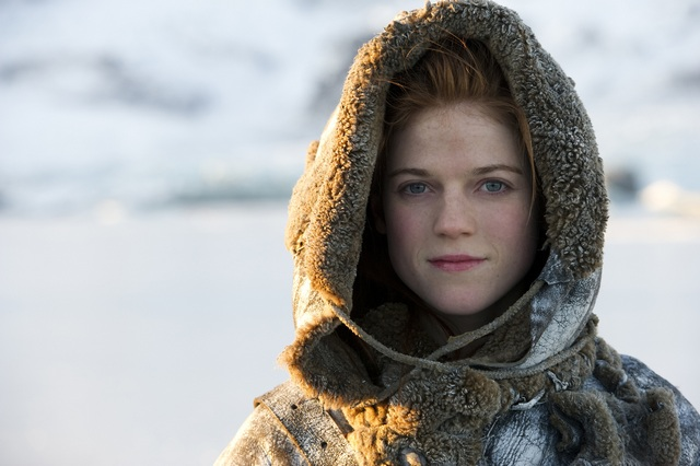 Actress Rose Leslie as Ygritte in Game of Thrones.