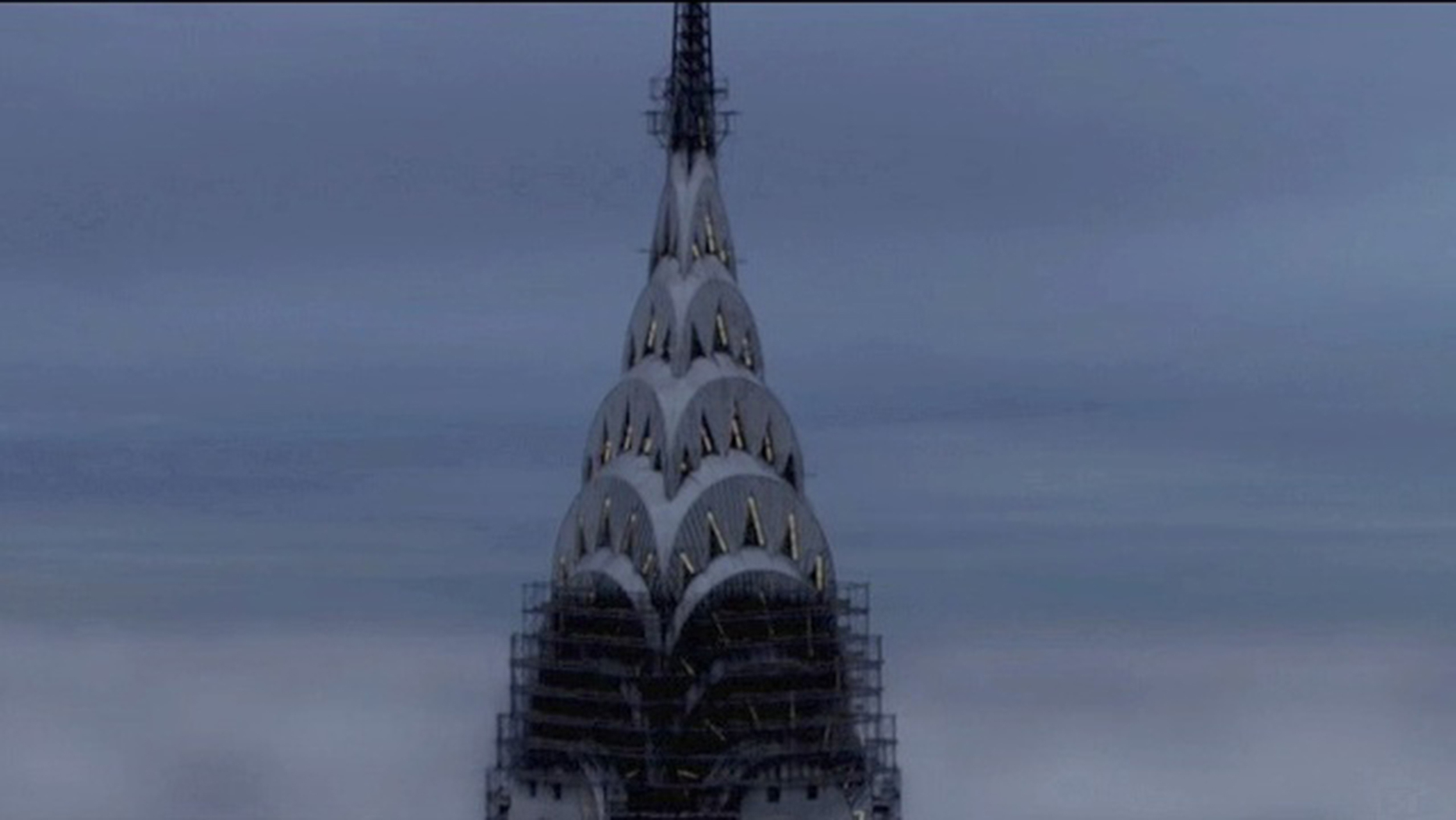 Cremaster 3 composite of Chrysler Building under construction. 3D scaffolding added. I served as Visual Effects Supervisor on Cremaster 3.