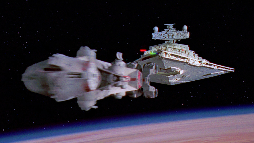 Star Wars: A New Hope (Special Edition). I worked as a compositor on the project and re-comped lasers in the epic opening shots of the film.