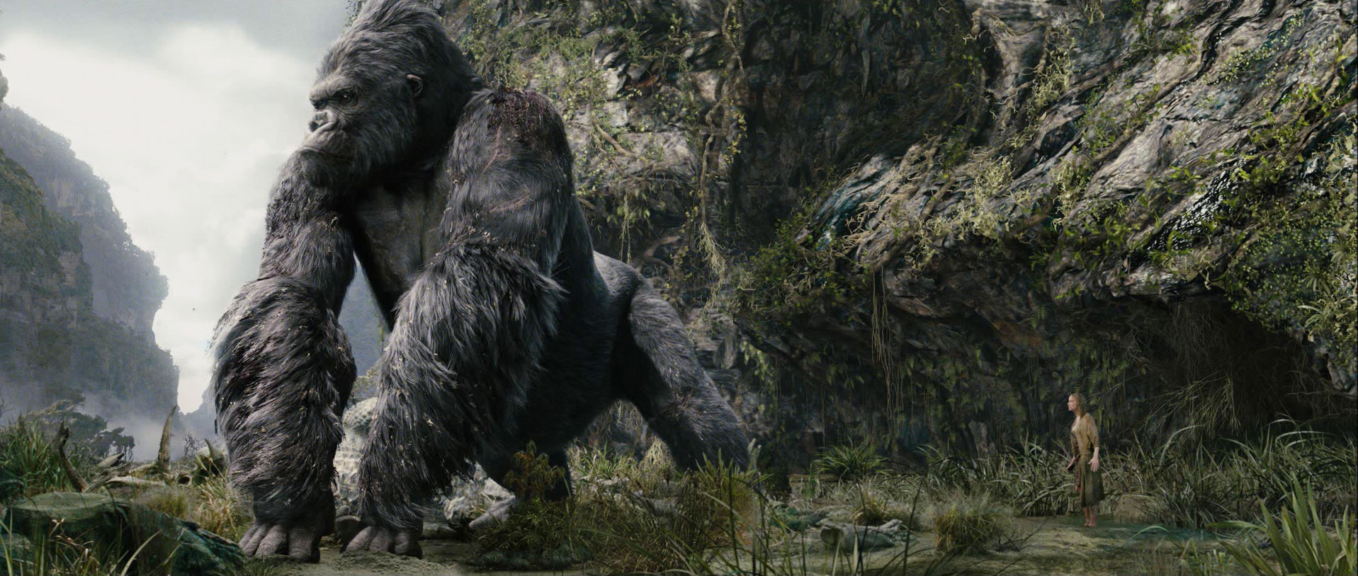 King Kong. I worked at Weta Digital in New Zealand for six months as Senior Compositor on the project.