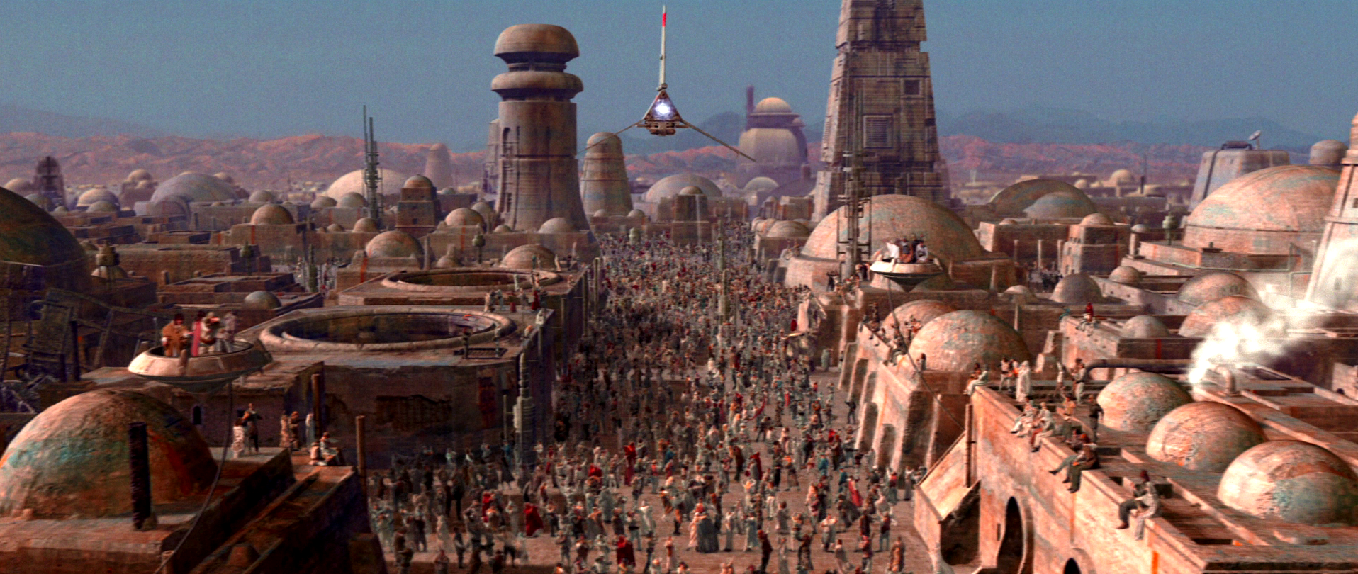 Final shot from Return of the Jedi: Special Edition. Celebration on Tatooine. I'm in there somewhere as an extra.
