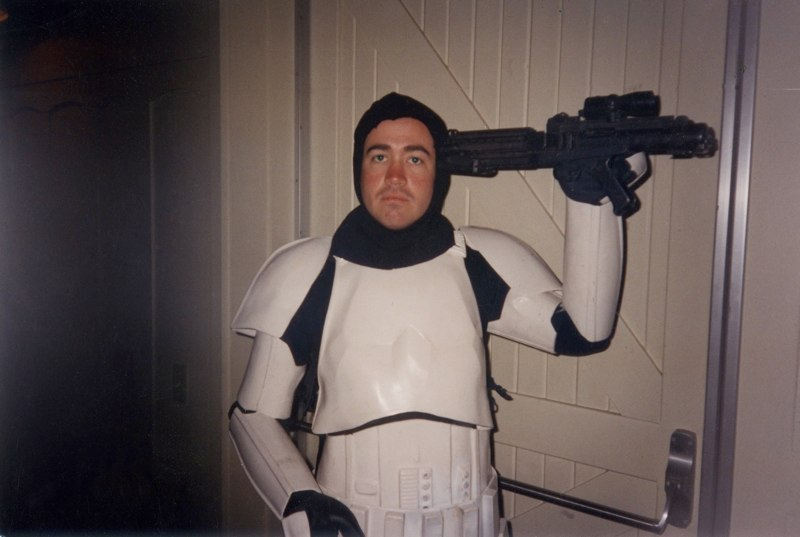 Me at a costume fitting to be an extra for the Star Wars Special Edition.