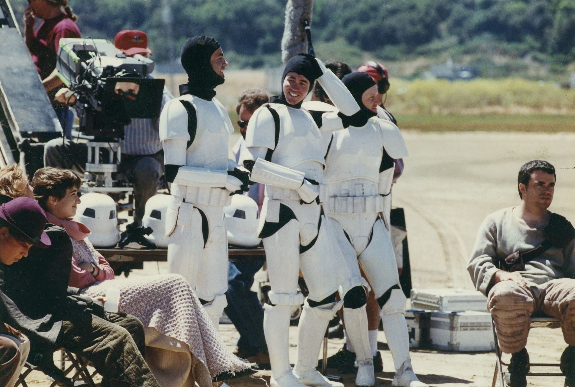 Me as a Stormtrooper extra on set during the shooting of insert shots for Star Wars: A New Hope - Special Edition. It was a fun day at work on the back lot at Industrial Light & Magic where I worked as a visual effects artist from 1992- 1999.