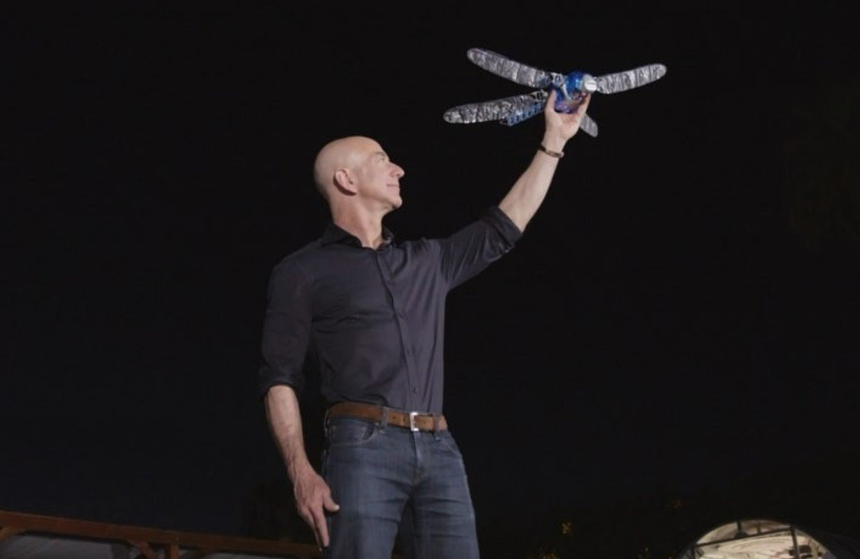 Jeff Bezos and robotic dragonfly.