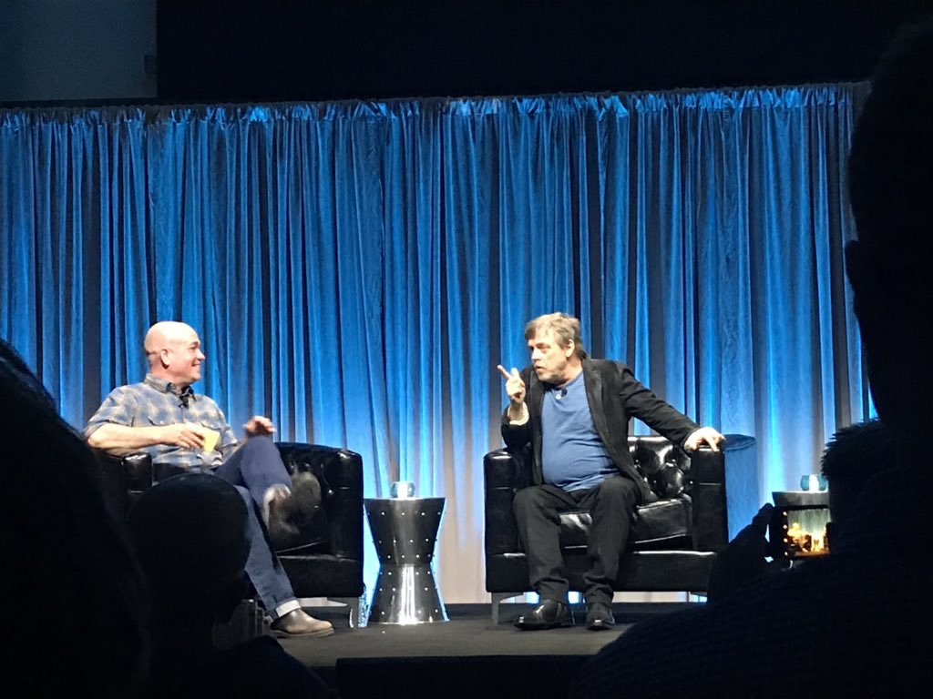 On stage for an evening chat with Mark Hamill who inspired kids all over the world to pursue careers in the arts and sciences. #steam